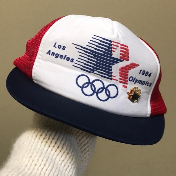 Vintage Other - Snap Back 1984 Olympics Hat & Pin snapback